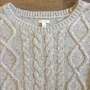 Sonoma Life Style Cable Knit Sweater Size Large